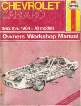 Chevrolet Camaro Repair Manual 1982-1984 Haynes Used