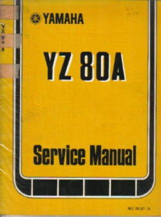 Used Official 1974 Yamaha YZ80A Factory Service Manual