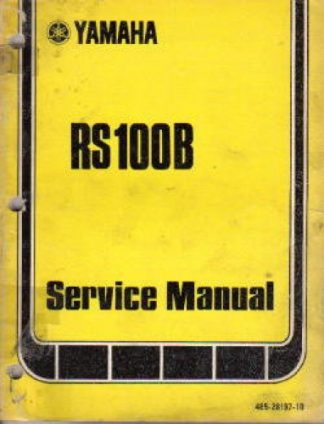 Used Official 1975 Yamaha RS100B Factory Service Manual