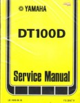 Used Official 1977 Yamaha DT100D Factory Service Manual