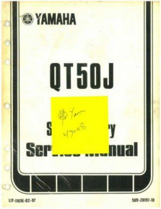 Used Official 1982 Yamaha QT50J Factory Supplementary Service Manual