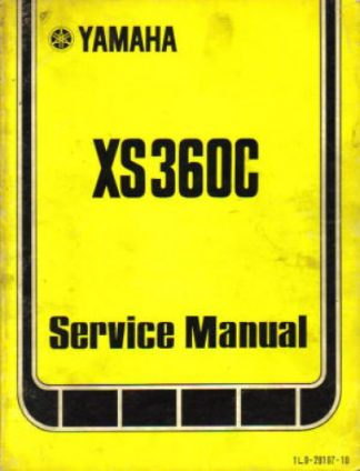 used 1976 yamaha xs360c factory owners service manual