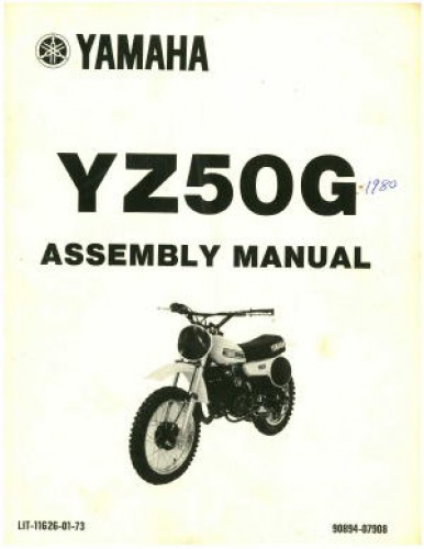 1980 yamaha yz50g motorcycle assembly manual rh repairmanual com Bicycle Assembly Manual Manuals for Navepoint 15U Assembly