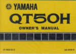 Used Official 1981 Yamaha QT50H Moped Owners Manual