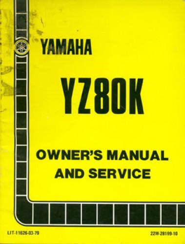 1983 yamaha yz80k service manual rh repairmanual com