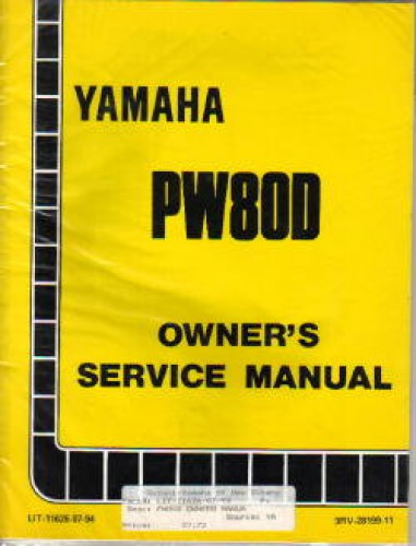 used 1992 yamaha pw80d motorcycle owners service manual. Black Bedroom Furniture Sets. Home Design Ideas
