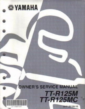 Used 2000 Yamaha TT-R125 Factory Service Manual