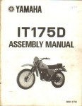 Used Official 1977 Yamaha IT175D Assembly Manual