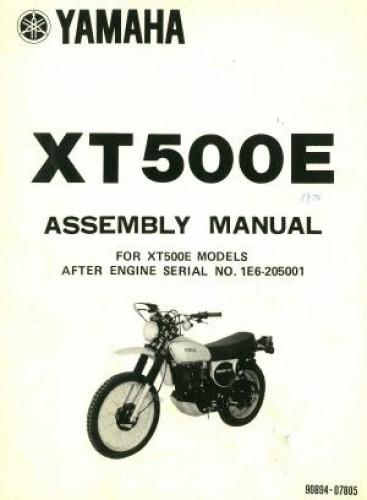 1978 yamaha xt500e motorcycle assembly manual rh repairmanual com Manuals for Navepoint 15U Assembly Weider Pro 4250 Assembly Manual