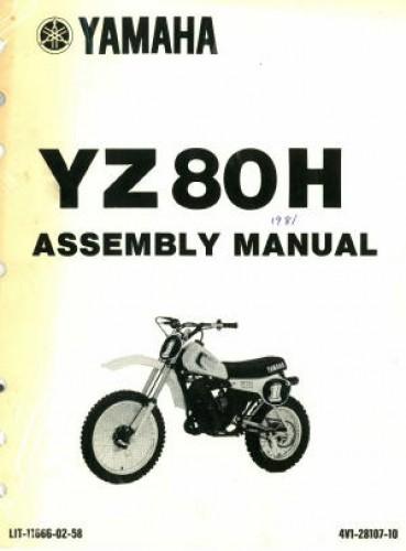 1981 yamaha yz80h motorcycle assembly manual rh repairmanual com Accuphase Assembly Manuals Assembly Instruction Manuals