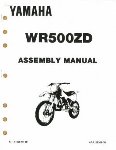 used 1992 yamaha wr500zd assembly manual. Black Bedroom Furniture Sets. Home Design Ideas