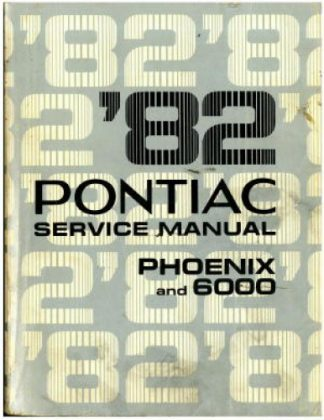 Used 1982 Pontiac Phoenix And 6000 Service Manual