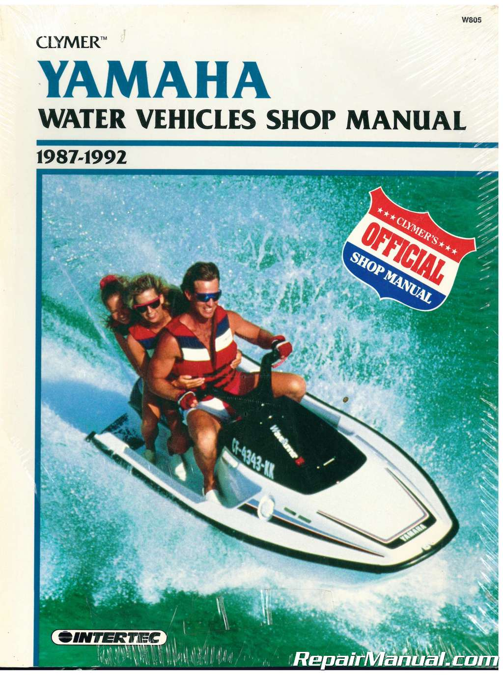 USED 1987-1992 Clymer Yamaha Waverunner Wavejammer Personal Watercraft  Repair Manual
