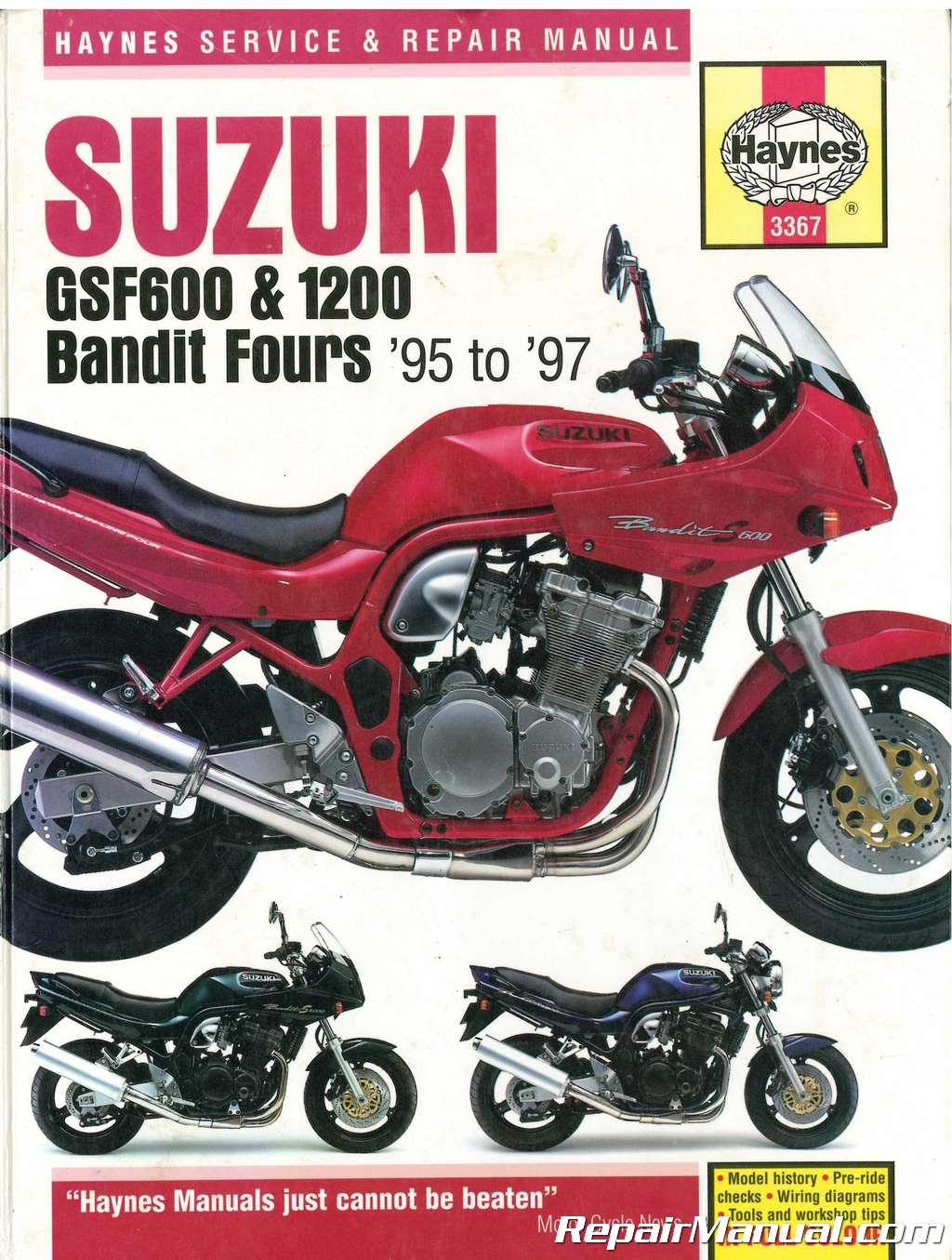 1991 1997 Suzuki Gsf40gsf400s Bandit Service Repair With Parts Diagrams