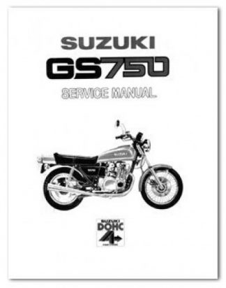 1979-1982 Suzuki GS750 Motorcycle Service Manual
