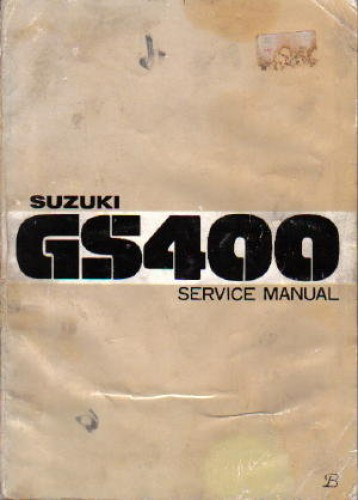 Suzuki 1977-1978 GS400 Factory Service Manual