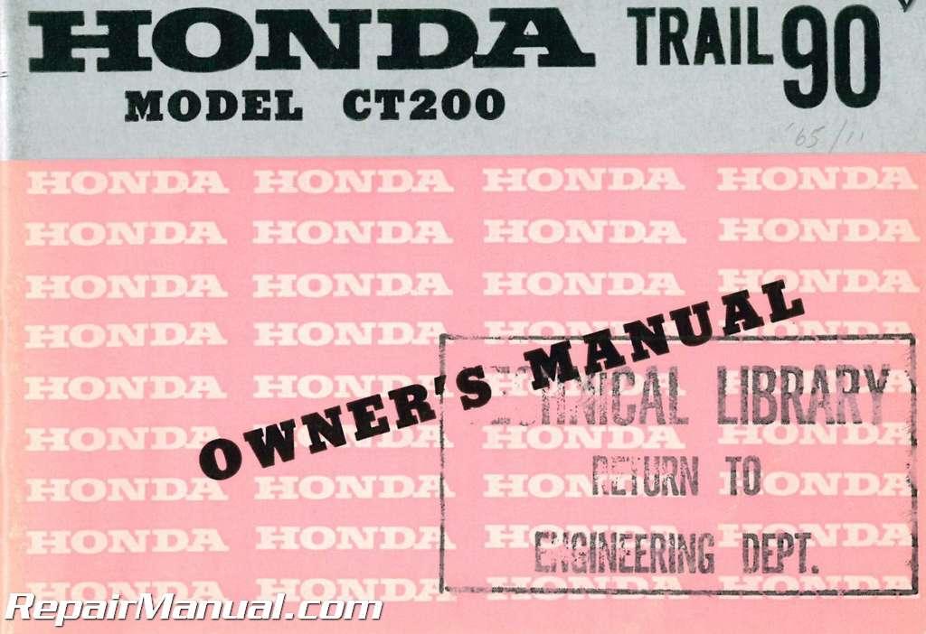 For Honda Ct200 Manual Guide