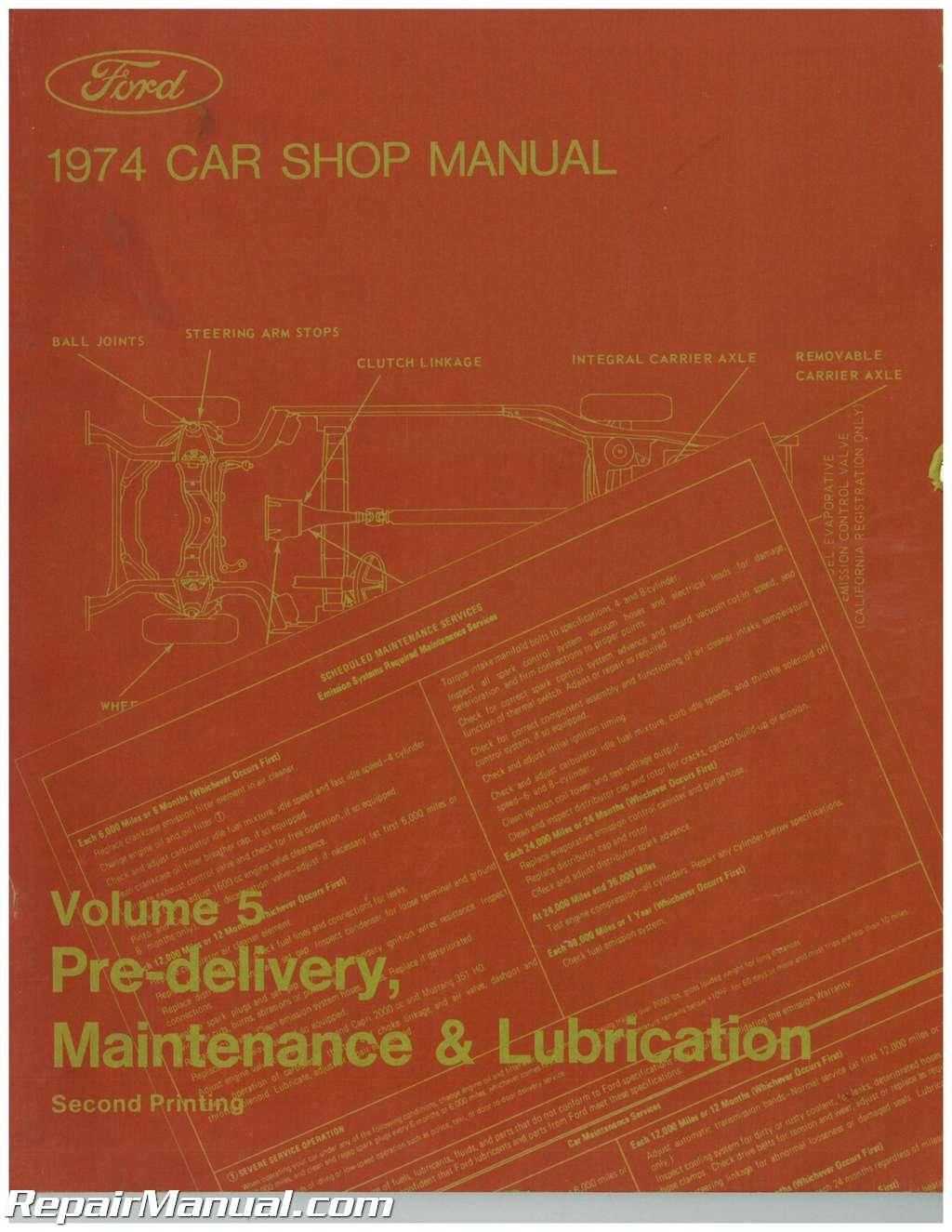 used 1974 ford car shop manual volume 5 pre delivery maintenance rh ebay com used shop mannequin for sale yeovil uk used shop mannequins