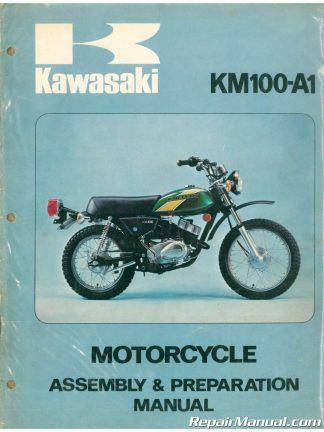 used 1976 kawasaki km100a1 motorcycle assembly preparation manual
