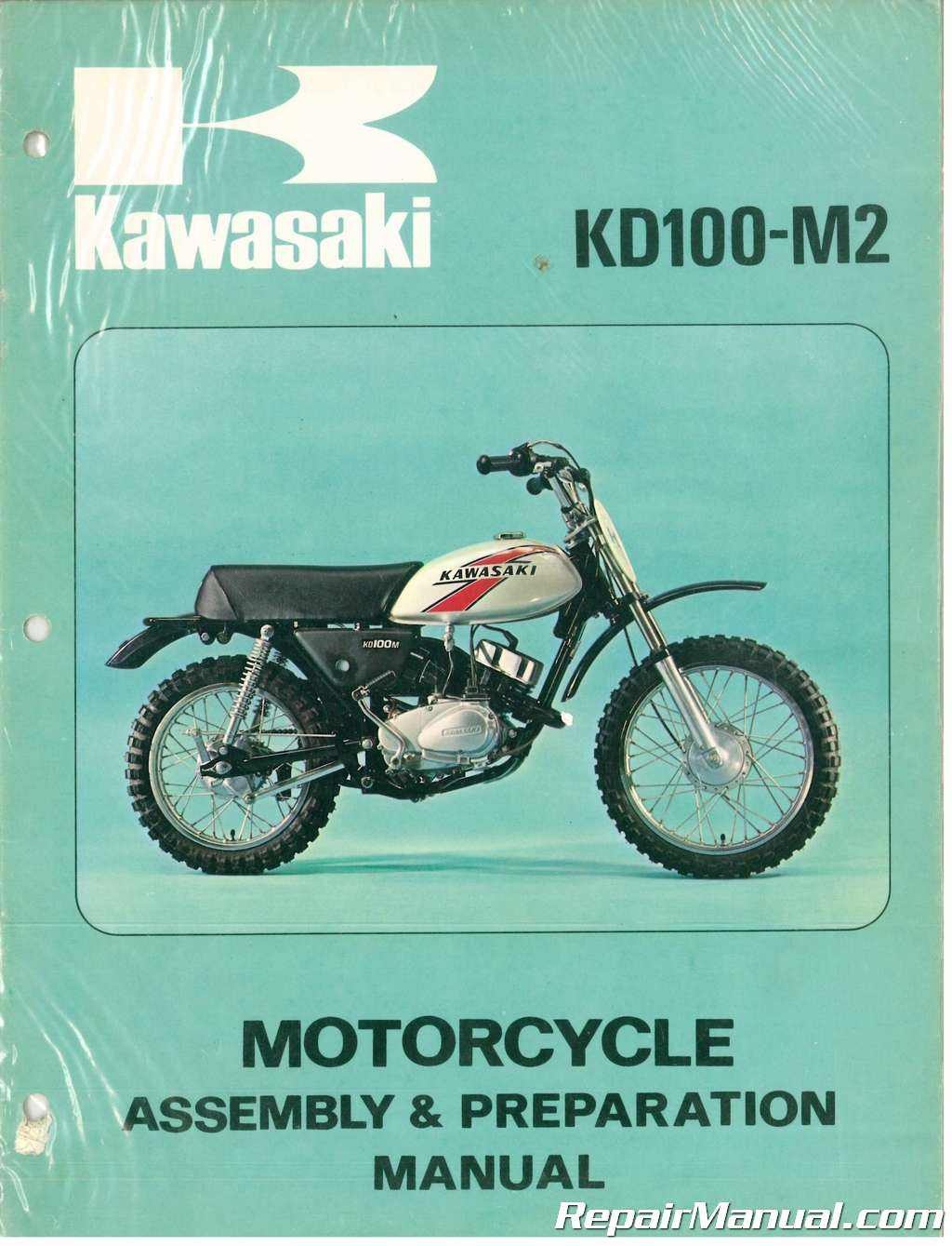 used 1977 kawasaki kd100 m2 motorcycle assembly preparation manual rh  repairmanual com