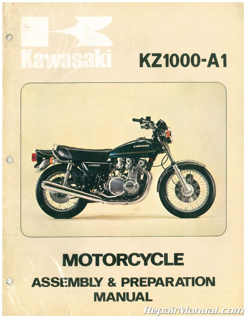 1977 Kawasaki KZ1000 A1 Motorcycle Assembly Preparation Manual