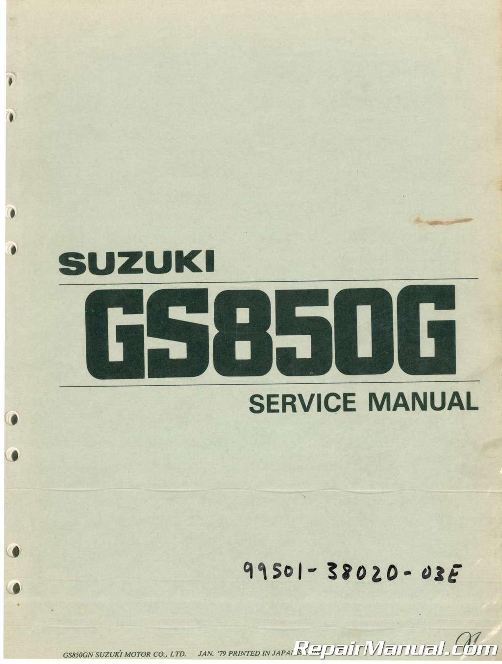 used 1978 1983 suzuki gs850g service manual rh repairmanual com suzuki gs850g service manual free download 1979 suzuki gs850 service manual