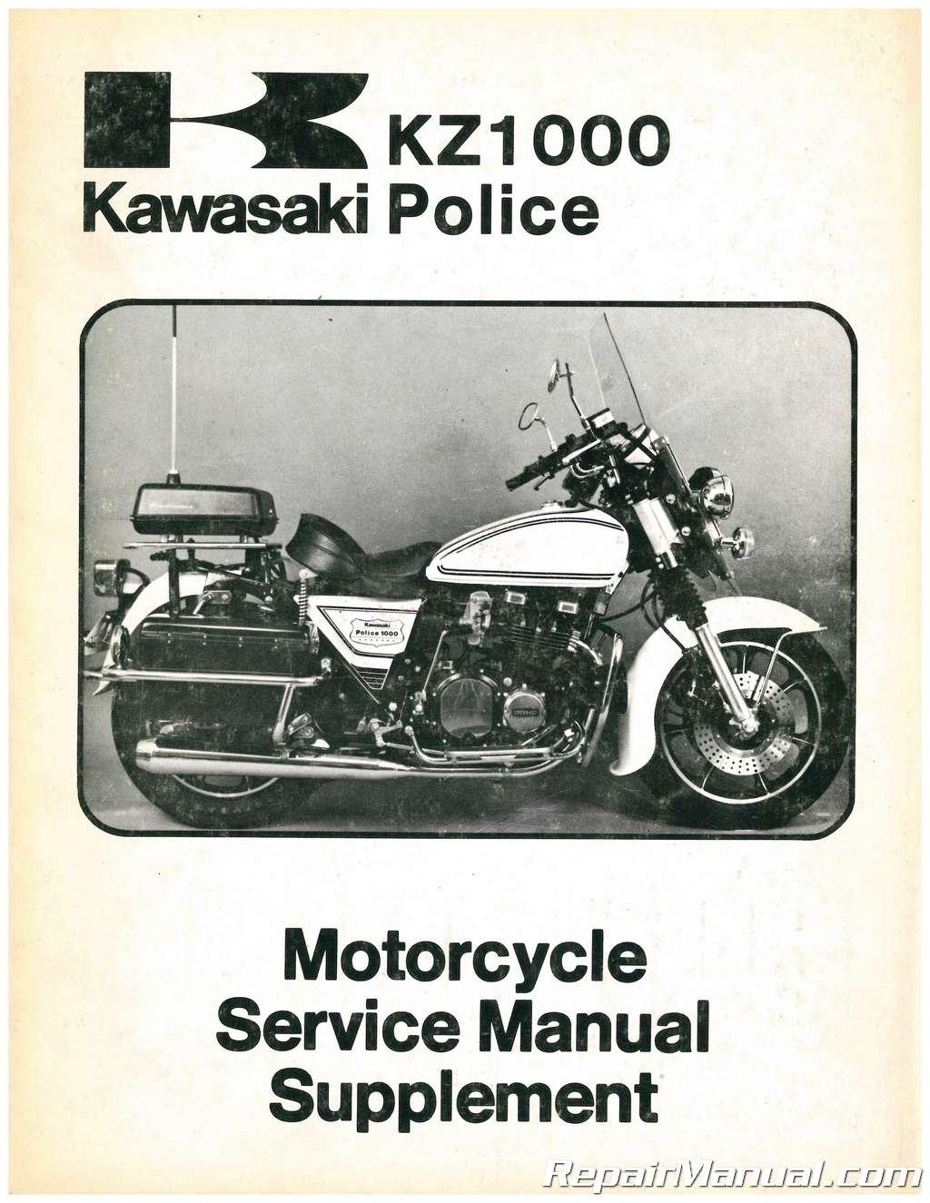 Used 1979 Kawasaki KZ1000 C2 Police Motorcycle Service Manual Supplement