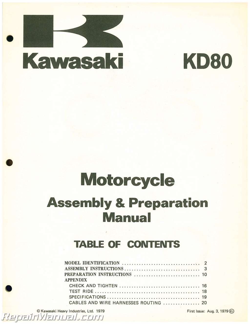 Used 1980 Kawasaki KD80 embly and Preparation Manual Kd Wiring Diagram on battery diagrams, transformer diagrams, switch diagrams, motor diagrams, series and parallel circuits diagrams, honda motorcycle repair diagrams, led circuit diagrams, internet of things diagrams, electrical diagrams, electronic circuit diagrams, pinout diagrams, friendship bracelet diagrams, troubleshooting diagrams, hvac diagrams, engine diagrams, smart car diagrams, sincgars radio configurations diagrams, lighting diagrams, gmc fuse box diagrams,