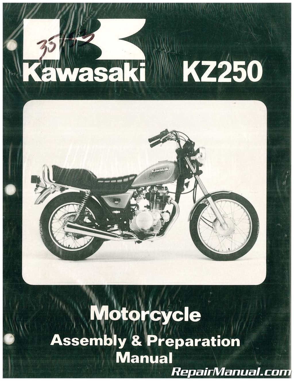 1980 Kawasaki KZ250 D1 Motorcycle Assembly Preparation Manual