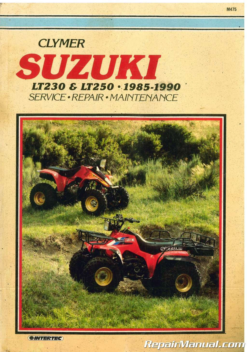 used 1985 1990 suzuki lt230 lt250 atv repair manual by clymer rh repairmanual com