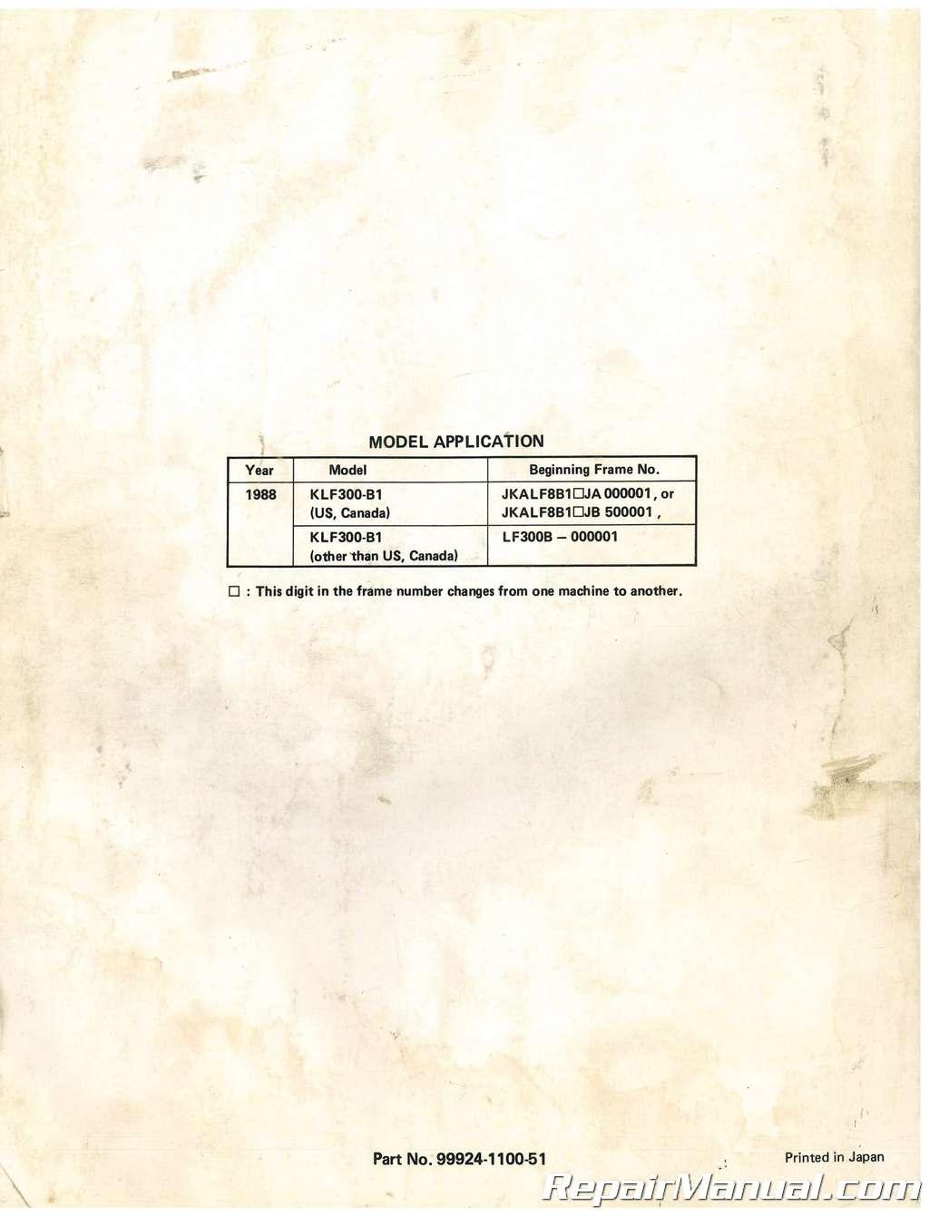 Kawasaki 185 Bayou Manual