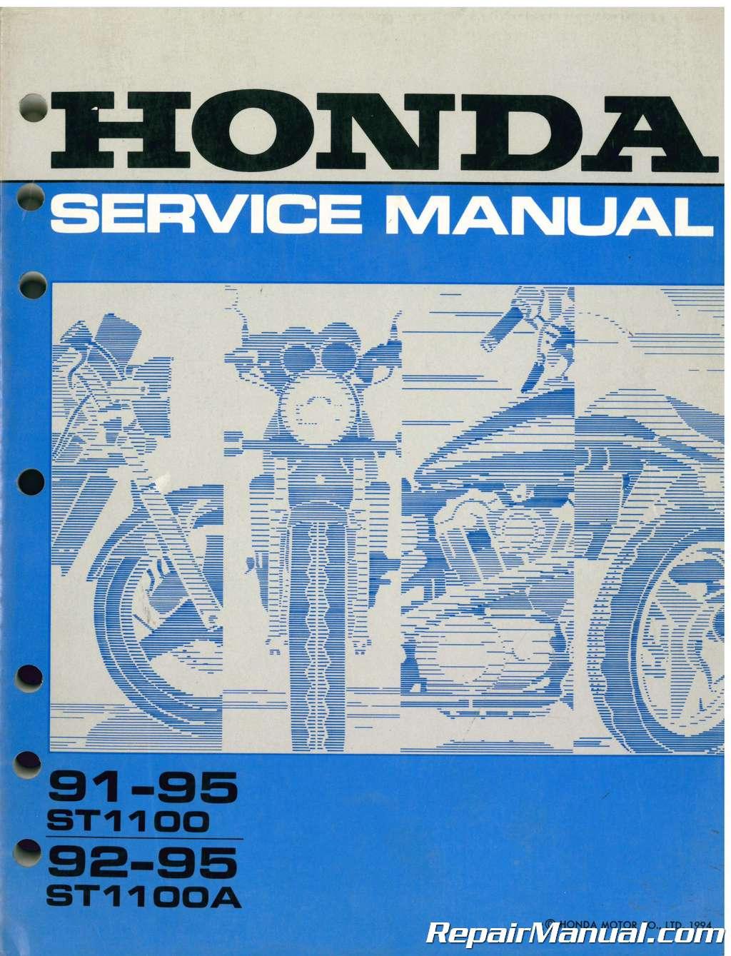 Honda 1995 ST1100/A Owner Manual 95 Motorcycle Manuals ...