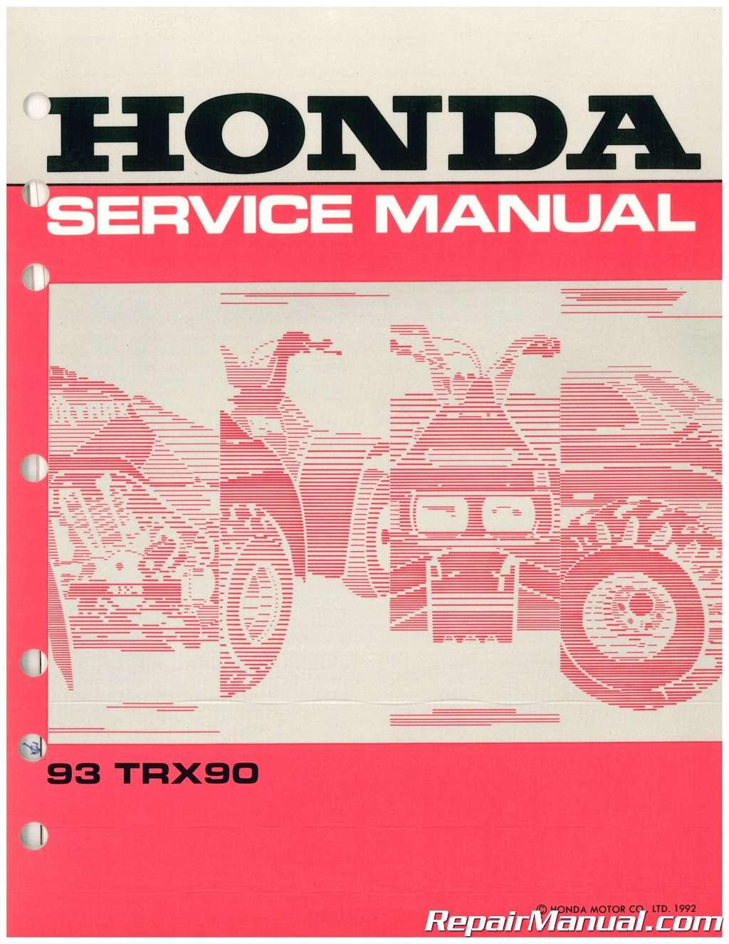 ... Array - used 1993 honda trx90 service manual rh repairmanual ...