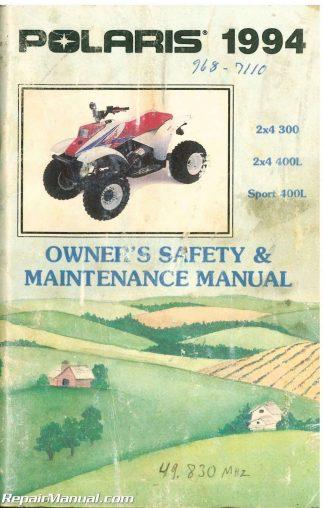 Used 1994 Polaris 300 400L Sport 400L ATV Owners Manual