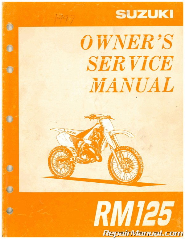 Used 1997 Suzuki Rm125 Service Motorcycle Owners Manual