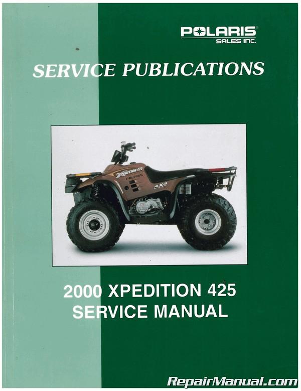 Used 2000 Polaris Xpedition 425 Atv Repair Service Manual
