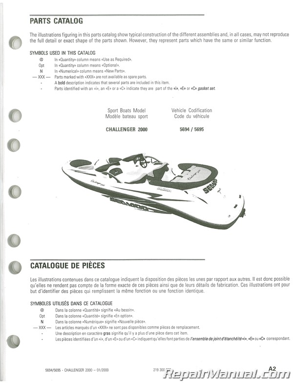Sea Doo Challenger 1800 Owners Manual