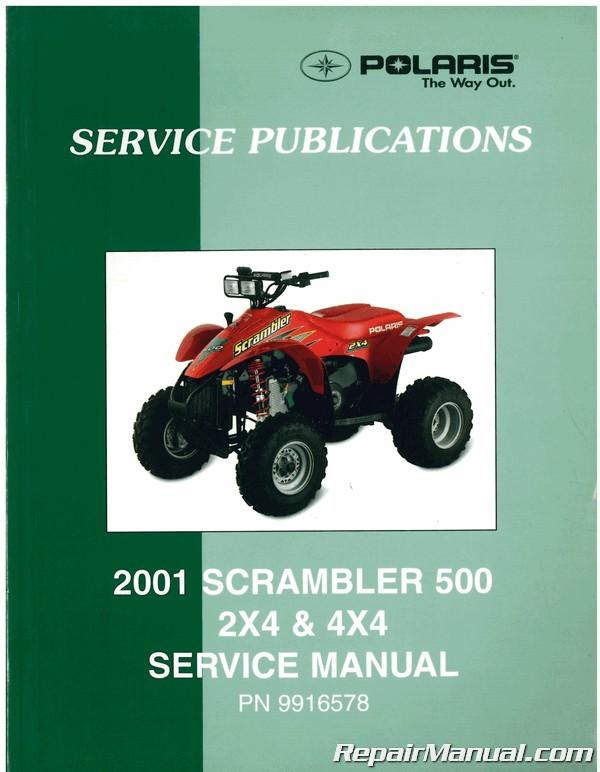 Used 2001 Polaris Scrambler 500 Atv Service Manual Ebay