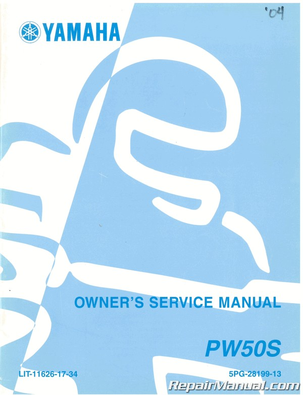Used 2004 Yamaha Pw50s Motorcycle Owners Service Manual