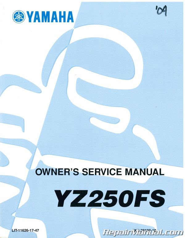 Used 2004 Yamaha Yz250fs Service Manual