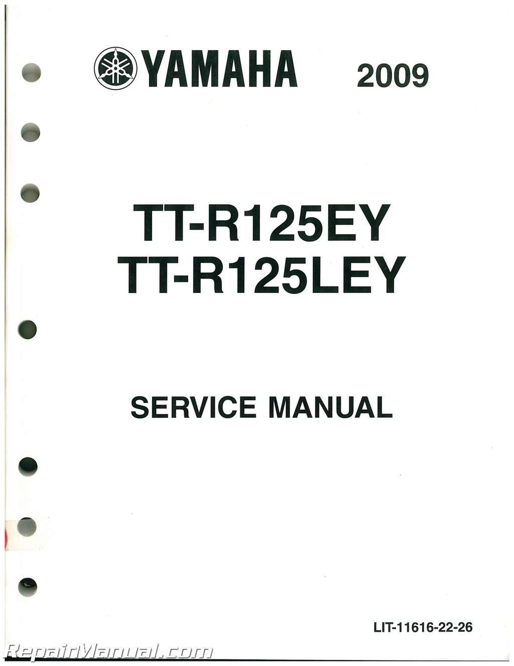 yamaha ttr 125 service manual pdf