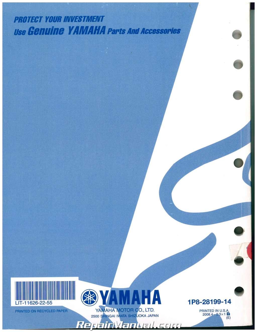 Yamaha Yz Owners Manual