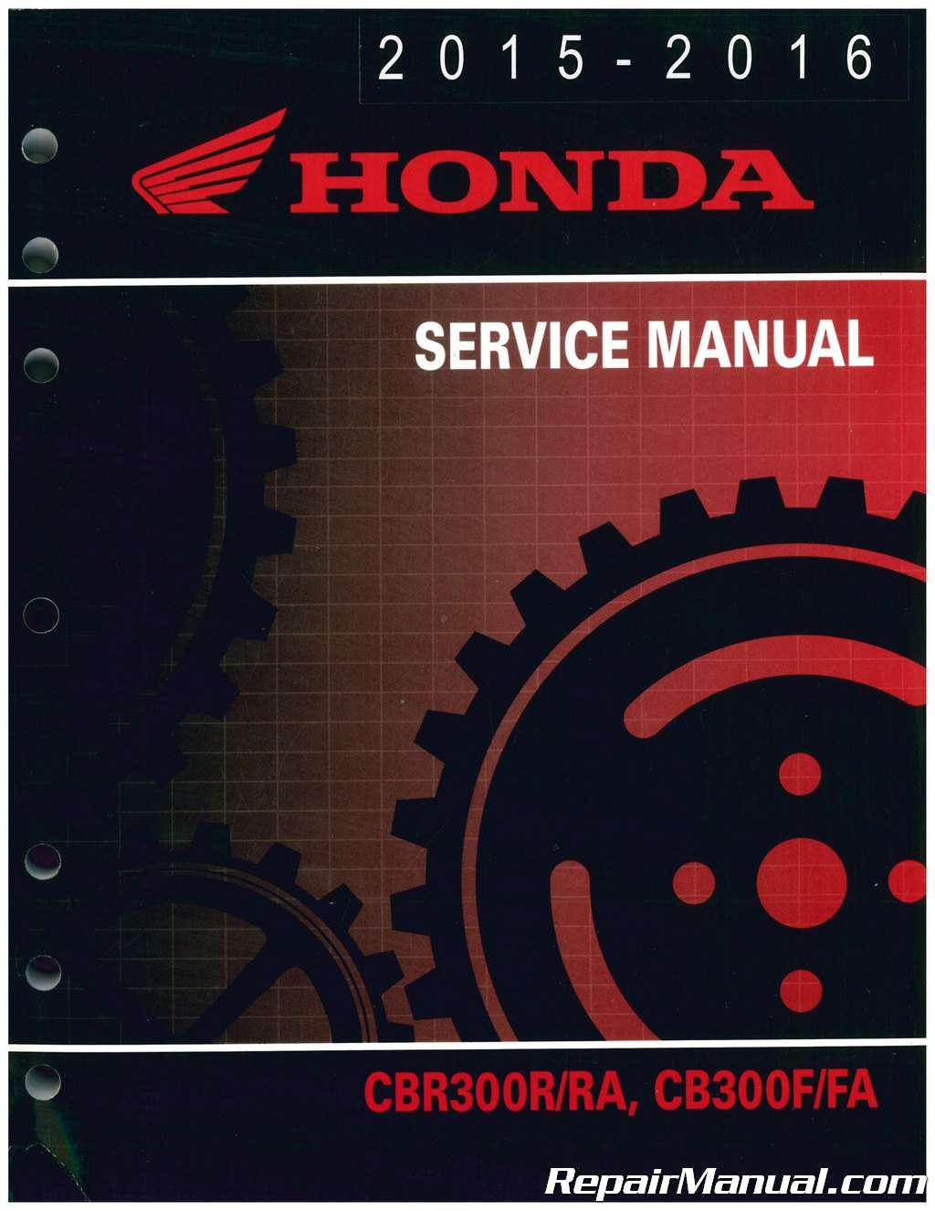 cbr 300r repair manual pdf