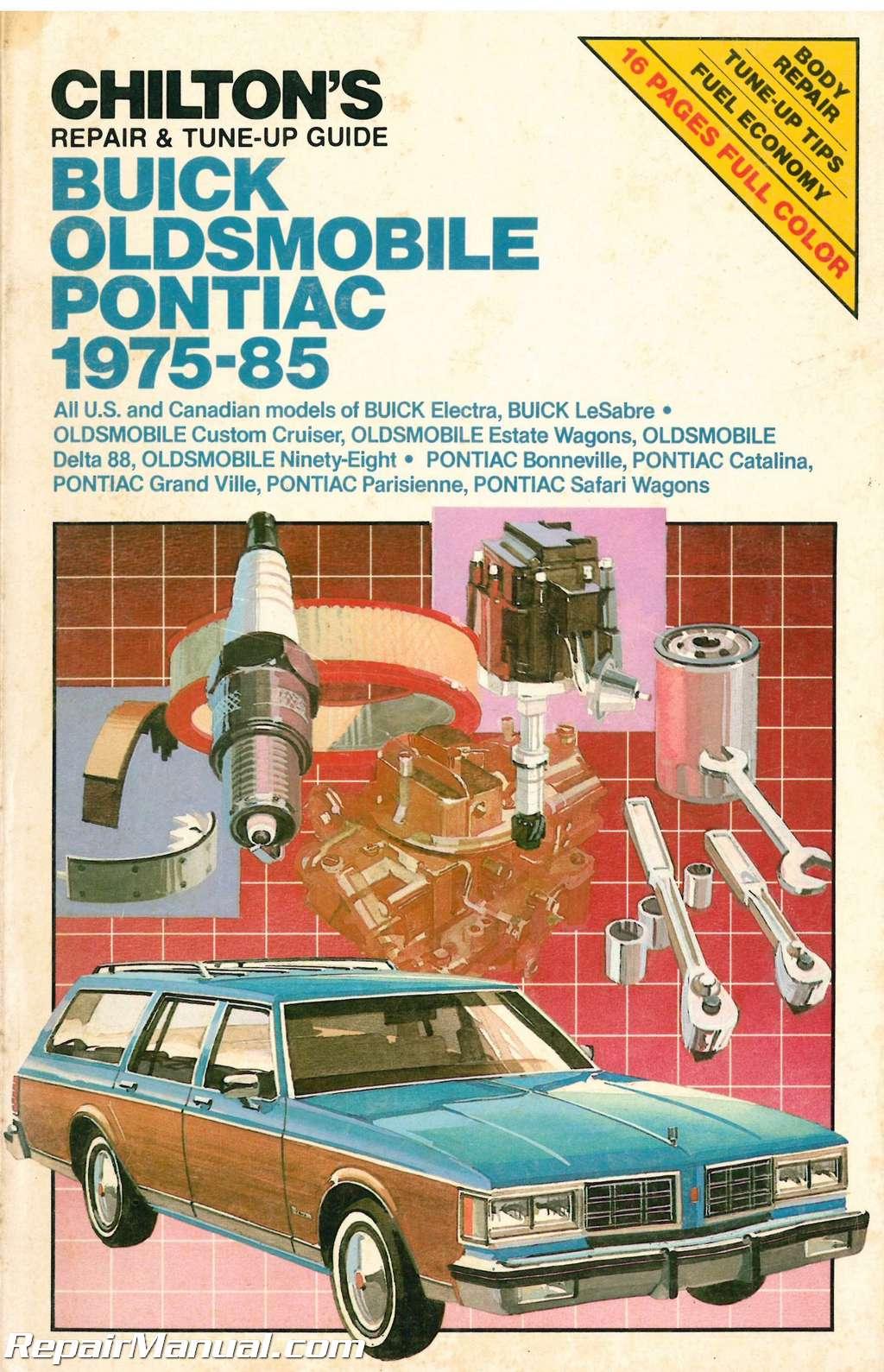 used chilton buick oldsmobile pontiac 1975 1985 repair manual rh repairmanual com 1995 Buick LeSabre 1990 buick lesabre repair manual