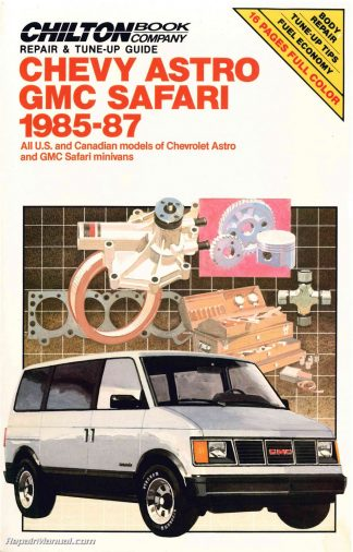 used chilton chevrolet astro gmc safari 1985-1987 repair manual
