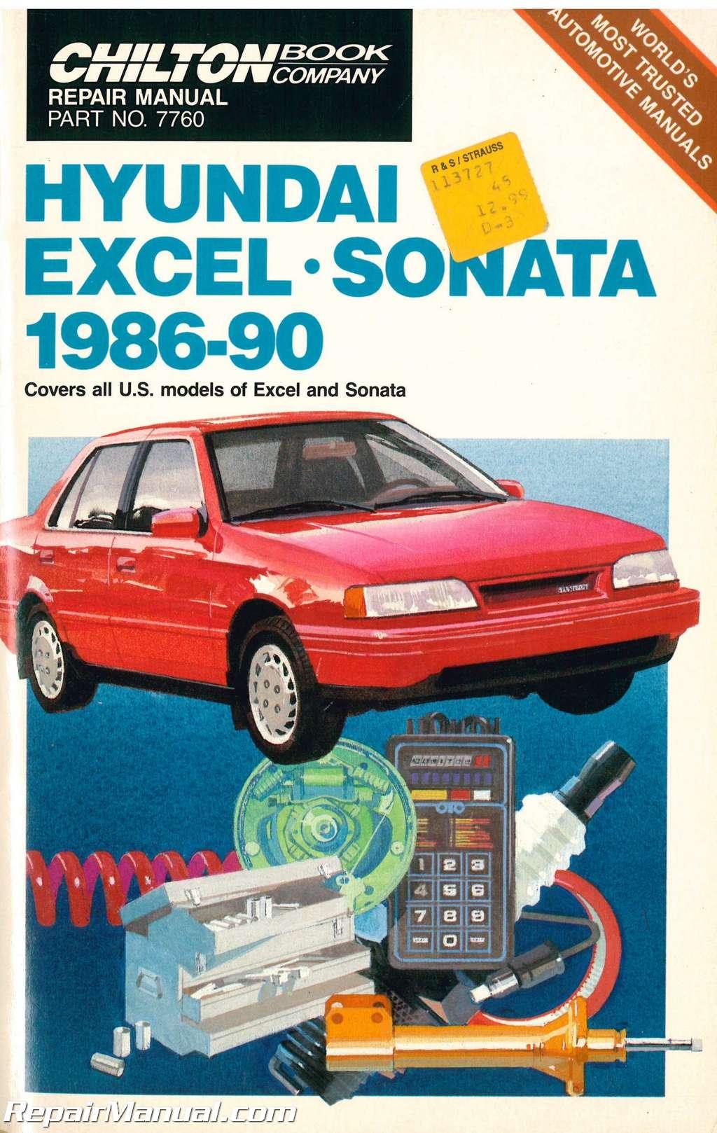 used chilton hyundai elantra excel scoupe sonata 1986 1990 repair rh repairmanual com 1993 Hyundai Scoupe 1995 Hyundai Scoupe