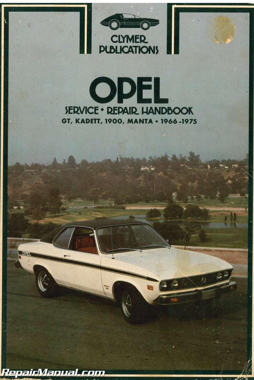 used clymer 1966 1975 opel gt kadett 1900 manta service manual rh repairmanual com Otawwa Workshop Manuals Ford Workshop Manuals