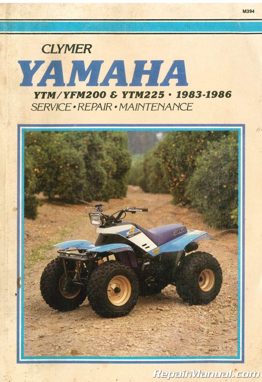 Yamaha yfm200 moto-4 200 1983-1986 service manual download video.