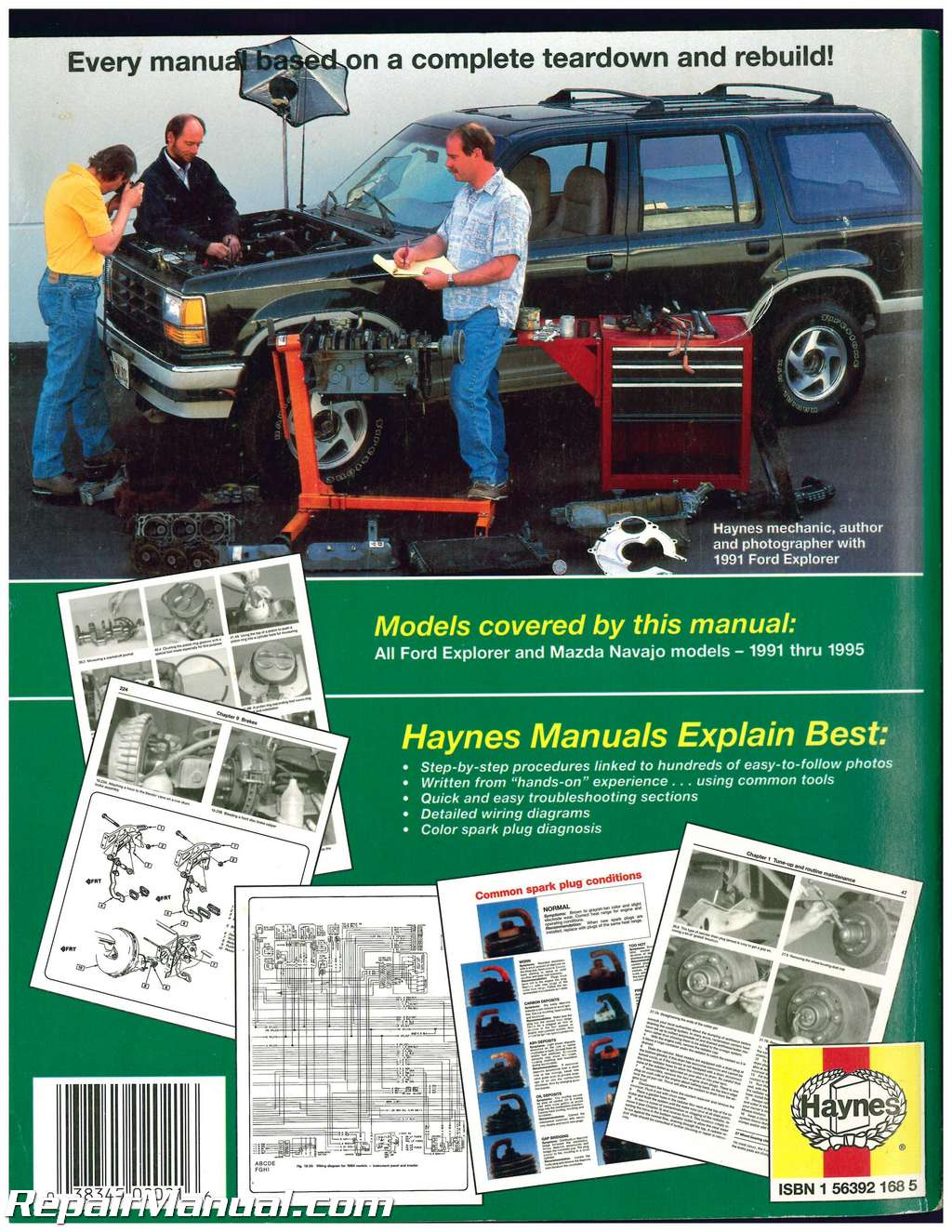 Used Ford Explorer Mazda Navajo & Mercury Mountaineer Automotive Repair  Manual 1991-1995 Haynes