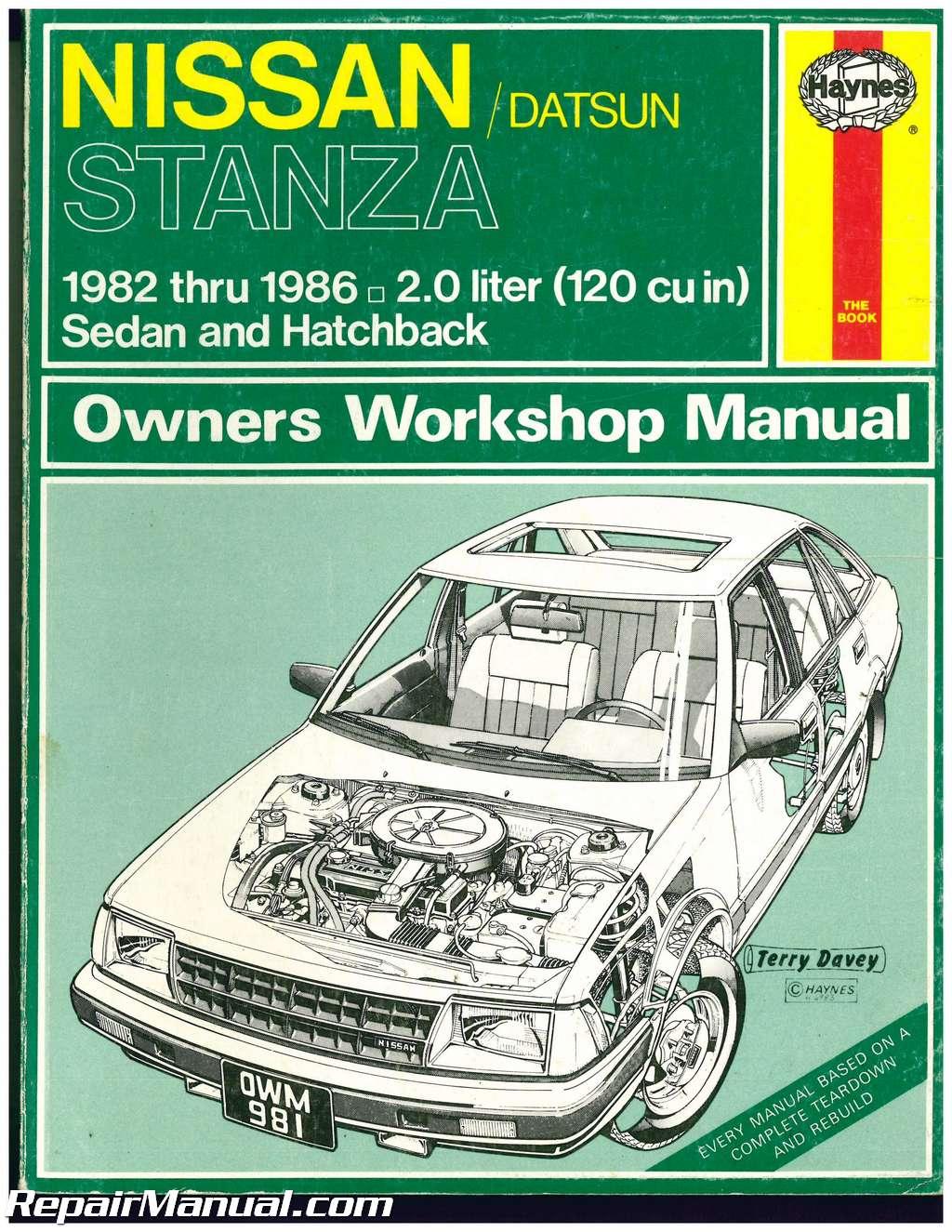 used haynes datsun nissan stanza 1982 1986 auto repair manual rh repairmanual com Auto -Owners Manuals Auto -Owners Manuals